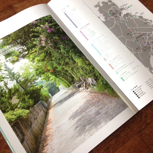 式根島のとある道(新島村パンフレット20ページ目)